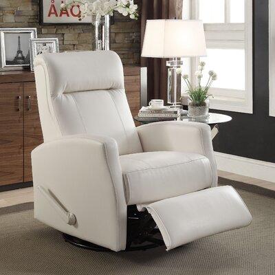 Jamie Manual Rocker Recliner Upholstery: White