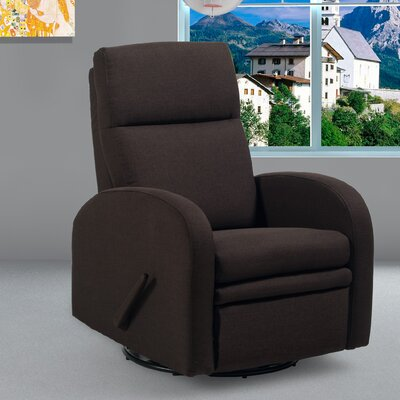 Jamie Warsaw Swivel Glider Recliner Upholstery: Brown