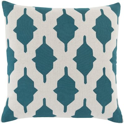 Glenda Throw Pillow Cover Size: 18 H x 18 W x 0.25 D, Color: BlueNeutral