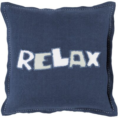 Jade Relax 100% Linen Throw Pillow Cover Size: 22 H x 22 W x 0.25 D, Color: OrangeNeutral