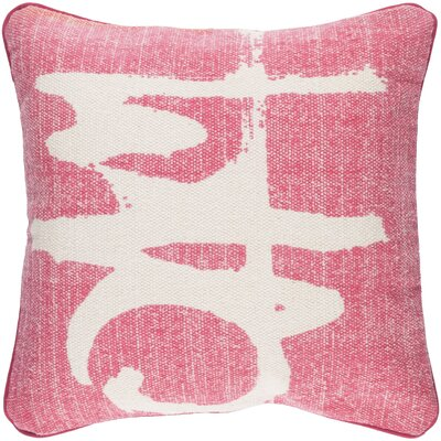 Freida 100% Cotton Throw Pillow Cover Color: PinkNeutral