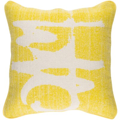 Freida 100% Cotton Throw Pillow Cover Color: YellowNeutral
