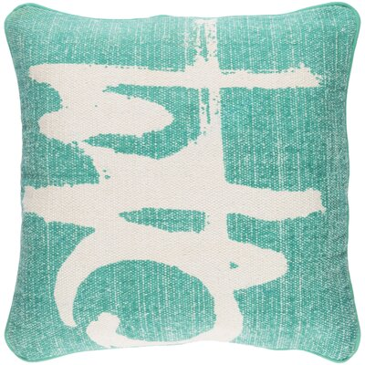 Freida 100% Cotton Throw Pillow Cover Color: EmeraldIvory