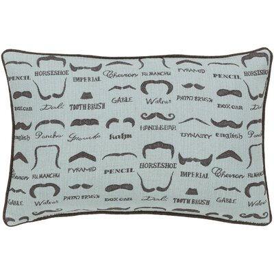 Georgette Wax that Stache Lumbar Pillow Cover Color: BlueBrown