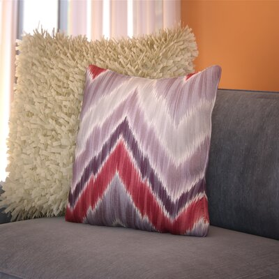 Earlwood Throw Pillow Color: Gray / Red, Size: 20 x 20