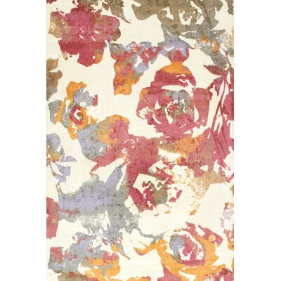 Herminia Beige/Pink Area Rug Rug Size: 5 x 8