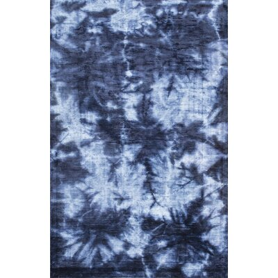 Jami Hand-Woven Blue Area Rug Rug Size: 76 x 96