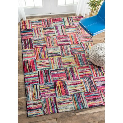 Jeri Red Area Rug Rug Size: 5 x 8