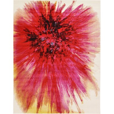 Elvia Red Area Rug