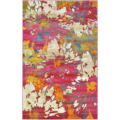 Elvia Pink Area Rug Rug Size: Rectangle 4 x 6
