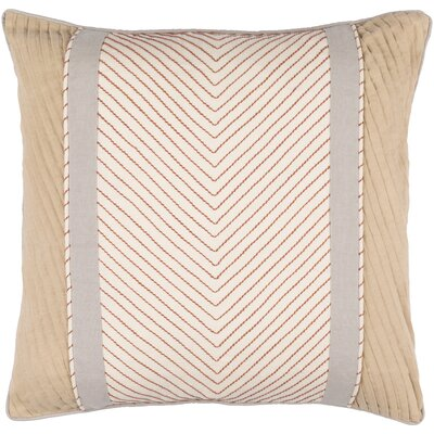 Aaden Throw Pillow Cover Size: 18 H x 18 W x 0.25 D, Color: NeutralBrown