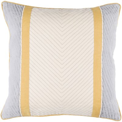 Aaden Throw Pillow Cover Size: 18 H x 18 W x 0.25 D, Color: BeigeGray