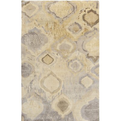 Eridani Hand-Knotted Yellow Area Rug