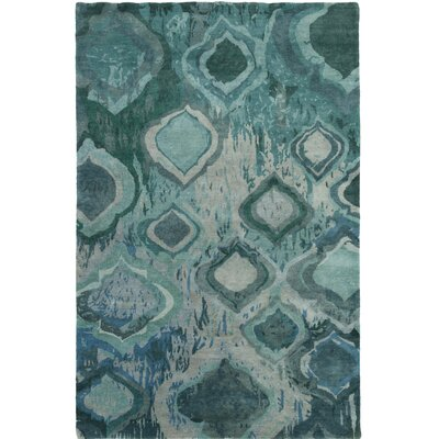 Eridani Hand-Knotted Blue/Green Area Rug