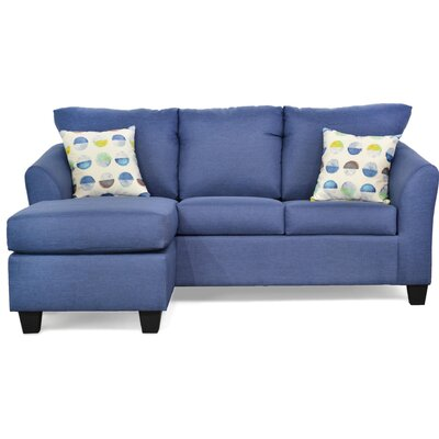 Randy Reversible Sectional with Ottoman Upholstery: Oscar Navy