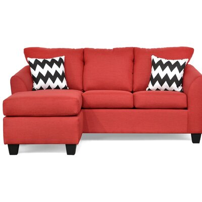 Randy Reversible Sectional Upholstery: Oscar Red