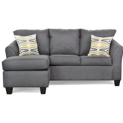 Randy Reversible Sectional with Ottoman Upholstery: Oscar Gunmetal
