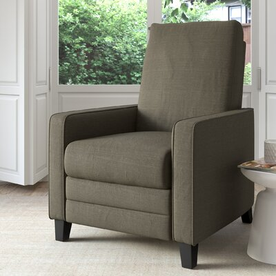 Kari Manual Recliner Upholstery: Army Green