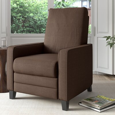 Kari Manual Recliner Upholstery: Brown