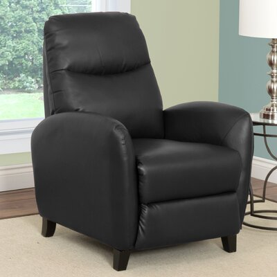 Frieda Manual Recliner Upholstery: Black