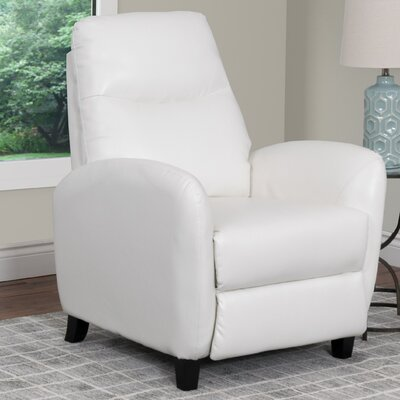 Frieda Manual Recliner Upholstery: White