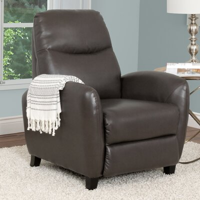 Frieda Recliner Upholstery: Brown