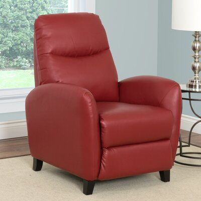 Frieda Recliner Upholstery: Red
