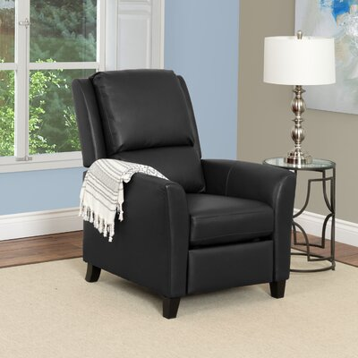 Julio Manual Recliner Upholstery: Black