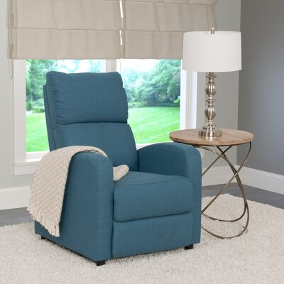 Rodolfo Manual Recliner Upholstery: Blue
