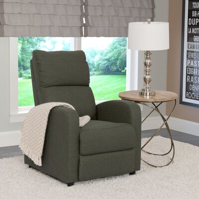 Rodolfo Manual Recliner Upholstery: Army Green