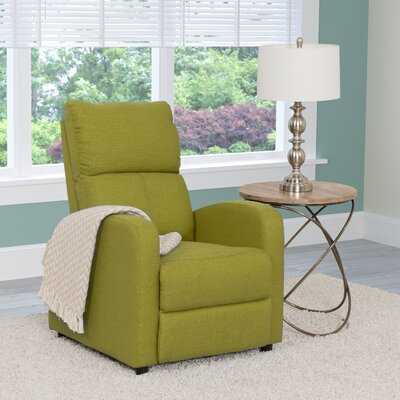Rodolfo Manual Recliner Upholstery: Green