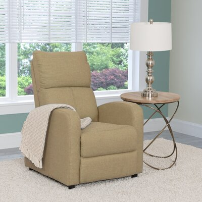 Rodolfo Manual Recliner Upholstery: Beige