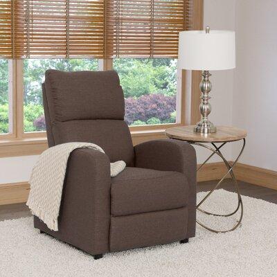Rodolfo Manual Recliner Upholstery: Brown
