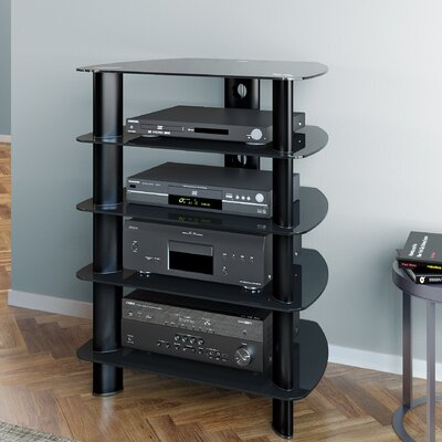 Norwood Glass Component Stand Audio Rack