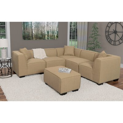 Randy Sectional with Ottoman Upholstery: Beige