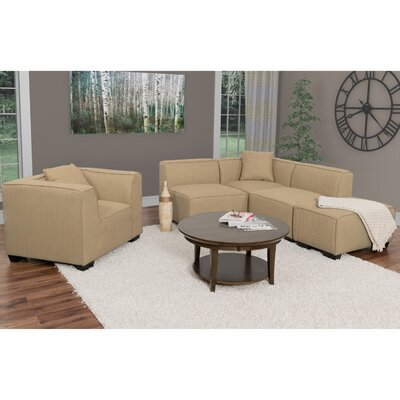 Randy Sectional Upholstery: Beige