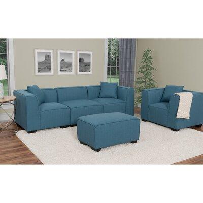 Randy Modular Sectional Upholstery: Blue