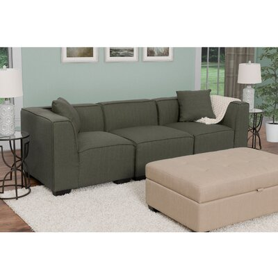 Randy Modular Sectional Upholstery: Army Green
