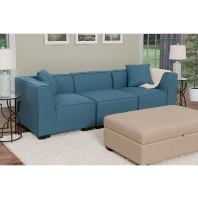 Randy Modular Sectional Upholstery: Blue