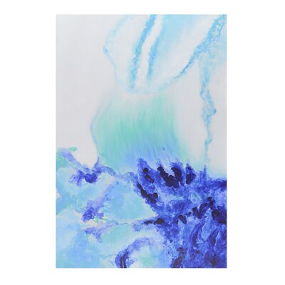 Wave Peaceful Water Painting Print on Canvas