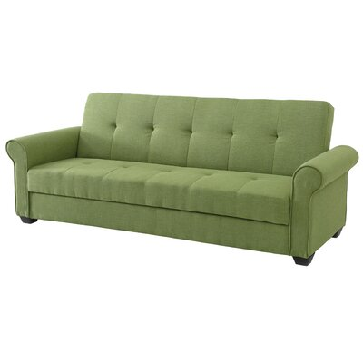 Garry Sleeper Sofa Upholstery Color: Green