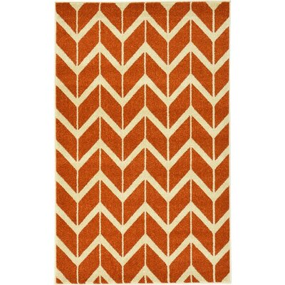 Darby Rust Red Area Rug Rug Size: 33 x 53
