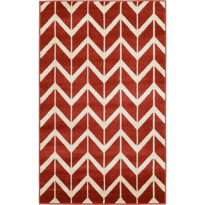 Matanna Rust Red Area Rug