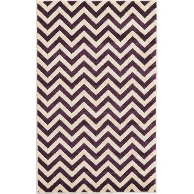 Arlot Purple Area Rug Rug Size: 33 x 53
