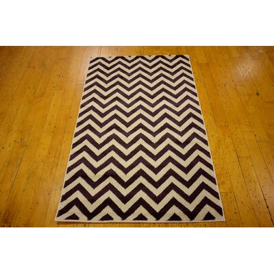 Arlot Purple Area Rug Rug Size: Rectangle 33 x 53