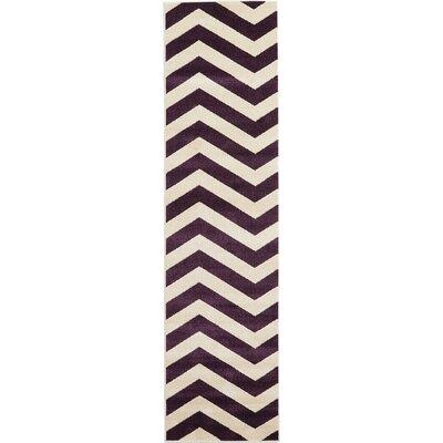 Arlott Purple/Cream Area Rug