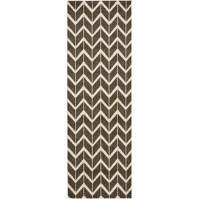 Duluth Brown Area Rug Rug Size: Runner 27 x 8