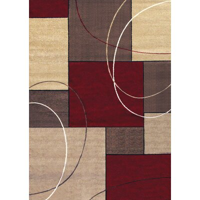 Fannie Beige/Red Area Rug