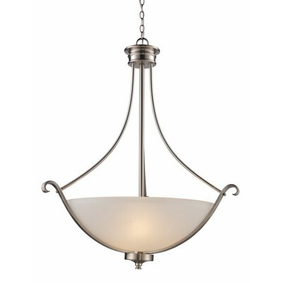 Wendi 3-Light Bowl Pendant or Inverted Pendant Finish: Brushed Nickel