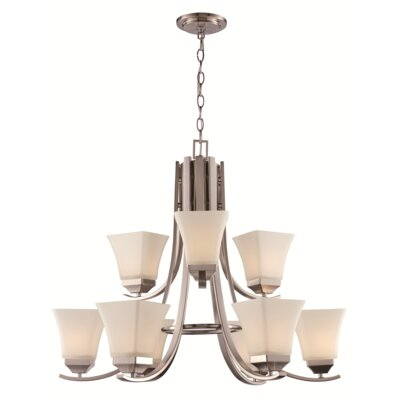 Darino 9-Light Shaded Chandelier